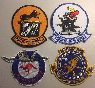 "U.S. Navy Patch Lot - 4 - 4"" Military Patches - USA SELLER -FREE SHIPPING"
