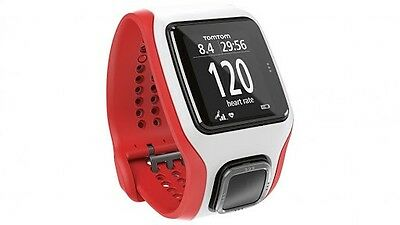 NEW! TomTom Runner Cardio GPS Watch | White/Red | RRP $347 | FREE EXPRESS POST