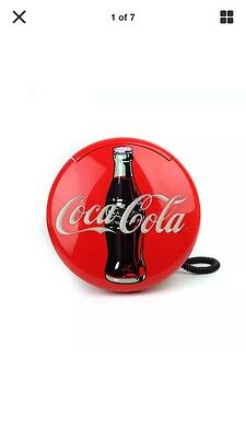 1995 COCA-COLA Disc Phone Light-Up Wall-Mount Stand-Alone Push-Button Telephone
