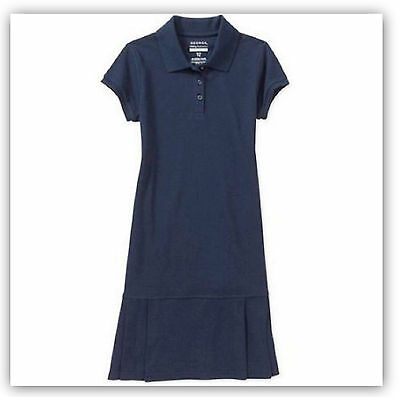 George school uniform toddler 5T Polo Dress w Pleats Dark Navy NWT