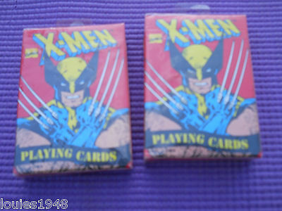 1993 X-Men Playing Cards 2 Factory Sealed Wolverine Evil Mutants 14 More U.s.a.