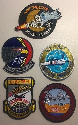 "U.S. Air Force Patch Lot - 5 - 4"" Military Patches - USA SELLER - FREE SHIPPING"