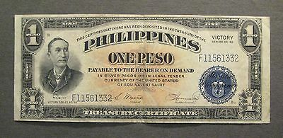 1944 Philippines 1 Peso Victory Series Banknote - * No Reserve * - (S774)