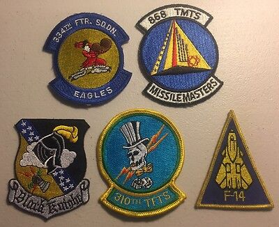 U.S. Air Force Patch Lot - 5 Military Patches - USA SELLER - FREE SHIPPING !!!