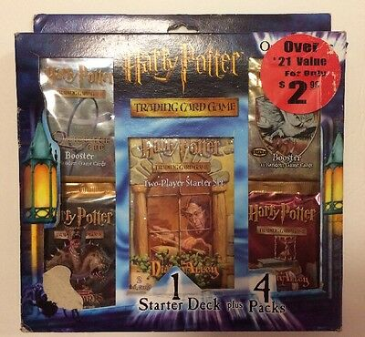 Harry Potter Trading Card Game 1 Starter Deck + 4 Packs Diagon Alley & More