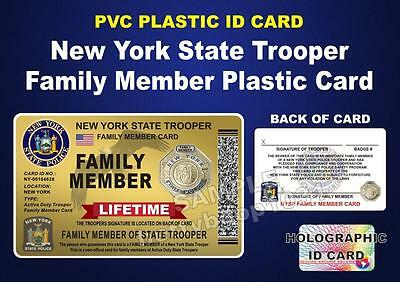 Lifetime Nysp New York State Police Card For Family Member Of Trooper Pba Fop
