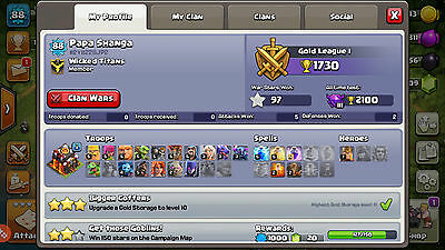 Clash of Clans TH 10 NICE WALLS, Heroes 1600 Gems BabyDrag & Witch