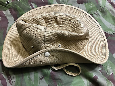 French Army Canvas Bush Hat Size 7 5/8 (61)