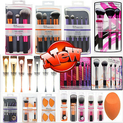 HOT Pro Real TECHNIQUES Makeup Brushes Starter Kit/Core Collection/Sam Nic Pick