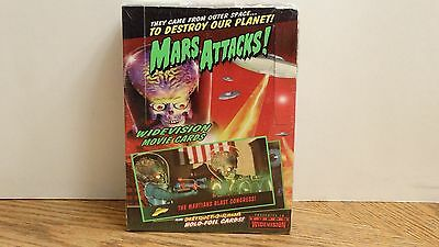 NEW, Factory Sealed Box MARS ATTACKS! Widevision Movie Trading Cards Topps 1996