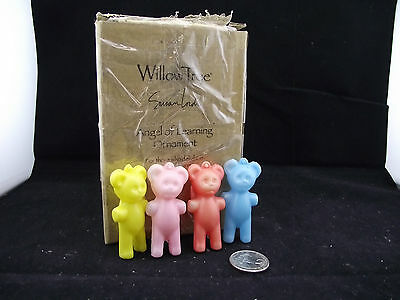 4 Plastic Made In Hong Kong Key Fob Teddy Bears Collection