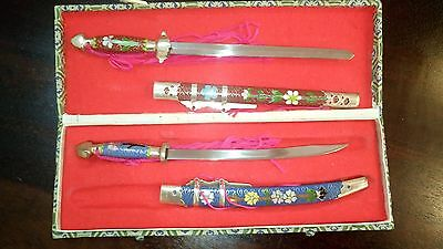 Set of Two Chinese Sword Letter Openers