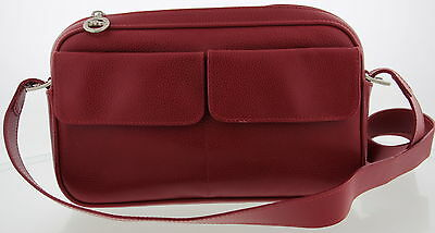 Women's LONGCHAMP Red Leather Shoulder Crossbody Purse Size Small