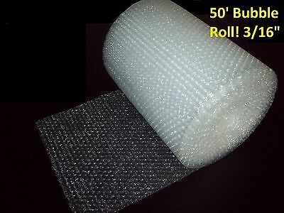 """50' Bubble Wrap® Roll 3/16"""" SMALL Bubbles! 12 In. Wide! Perforated Every Foot!"""
