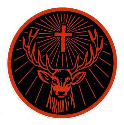 "2x Jagermeister Rudi 5.5"" Round Orange & Black Jagermeister Stickers/Labels"