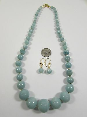 Lee Sands Graduated Amazonite Necklace & Earring set