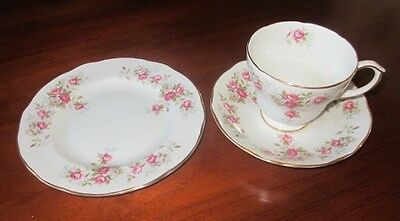 Vintage Duchess Bone China Trio Tea Cup, Saucer & Plate. Jane Bouquet