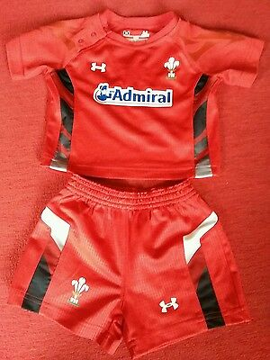 welsh rugby union kit size  6 months