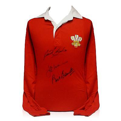 Wales Rugby Shirt Signed Gareth Edwards JPR Williams Phil Bennett Collectables