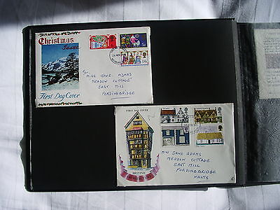 Collection of 62 First Day Edition United Kingdom Covers 1969-1976 in Album