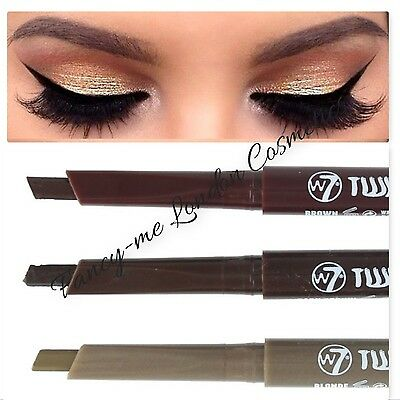 W7 TWIST AND SHAPE 2 in 1 Brow Pencil & Comb BLONDE, BROWN & DARK BROWN SEALED