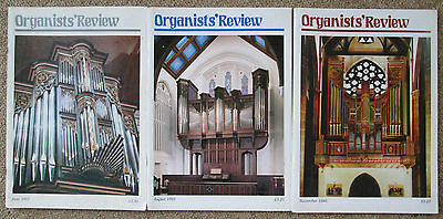 Organists' Review magazine. 3 issues - June 1992 and August, November 1993.