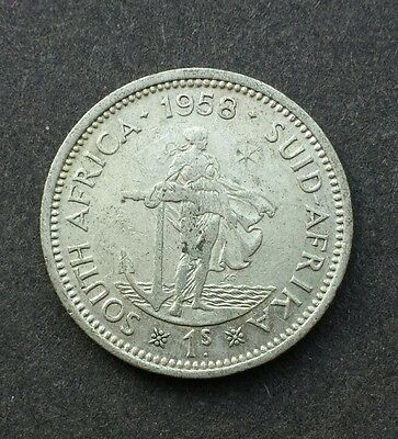 1958 - 1 Shilling / One Shilling Coin - SILVER - South Africa / Suid Afrika