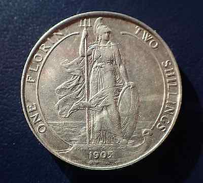 1905 Edward VII Silver Florin / Two Shillings