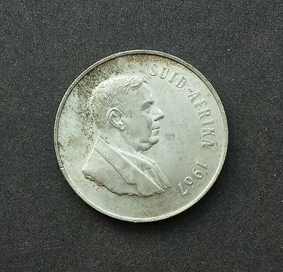 1967 One Rand, R1 South Africa / Suid Arika - SILVER COIN - Afrikaans legend