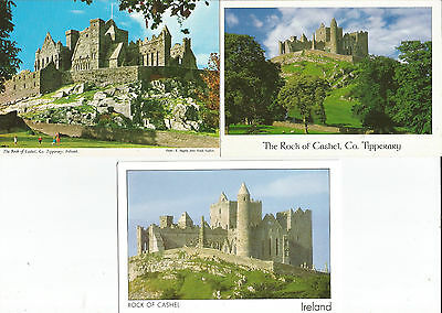 3 Unused Postcards From County Tipperary, Ireland, Rock Of Cashel