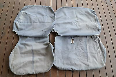 Genuine Toyota LC70 series Land Cruiser 3/4 bench front canvas seat covers