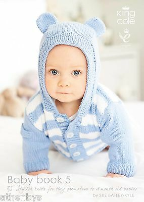 King Cole Baby Book 5 by Sue Batley-Kyle. Knitting Book over 30 items to knit
