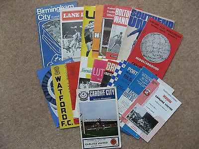 COLLECTION 18 CARLISLE UNITED AWAY PROGRAMMES 1970/71.reduced!