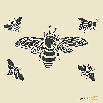 Bumble Bee  #3 Stencil Template:  Scrapbooking, Airbrushing, Art:  ST4A6