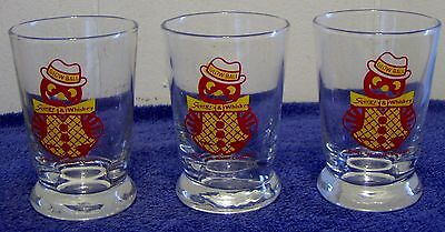 "1953 Squirt Advertising ""glow Ball"" Squirt & Whiskey Glasses Lot Of Three  Libby"