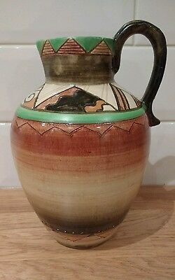 Art Deco SHORTER & SON Pottery MABEL LEIGH KHIMARA Design jug c1933