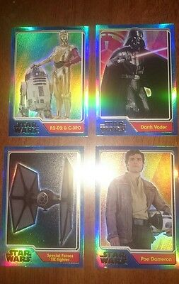 Journey to Star Wars Rainbow Foil Cards