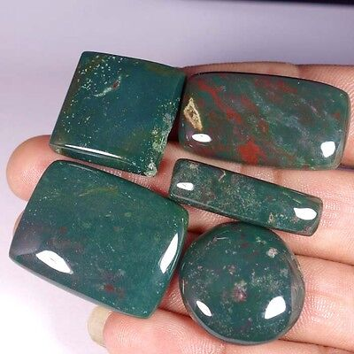 126.60Cts. 100% NATURAL QUALITY BLOOD STONE MIX CABOCHON LOT LOOSE GEMSTONE