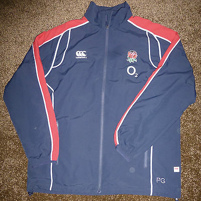 ENGLAND RUGBY-Players/Coaches Issue ONLY-NEW Canterbury Track Top XL