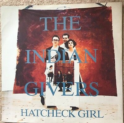 "The Indian Givers Hatcheck Girl 12"" Vinyl Single 1989 VST 1187"