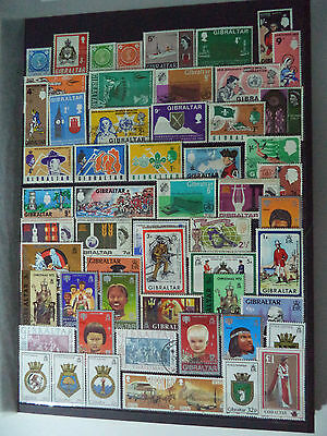 Huge Collection Of Stamps, Gibraltar Mint ++ / + Y Usedo Other Stamps Not Shown