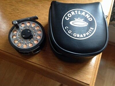 A Cortland C G Graphite Fly Reel With Line .