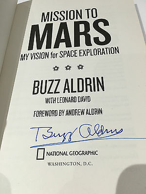 Buzz Aldrin Autograph Mission To Mars Signed Book Coa Space Nasa Moon My Vision