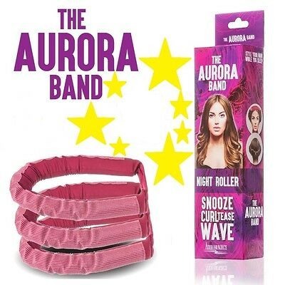 The AURORA BAND Sleep In Night Roller,Hair Band Curls Dragons Den + FREE GIFT
