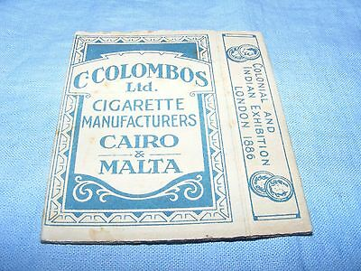 Vintage Empty Cigarette Packet Egyptian Colombos Cigarettes - Blue Malta Cairo