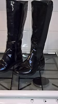 Black Patent Knee high boots ( Size 5)