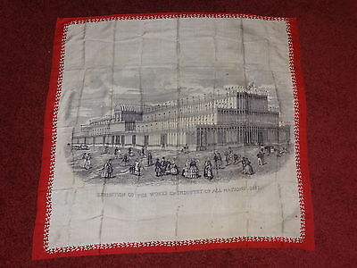 Crystal Palace silk scarf / Banner 1851 the great exhibition very rare