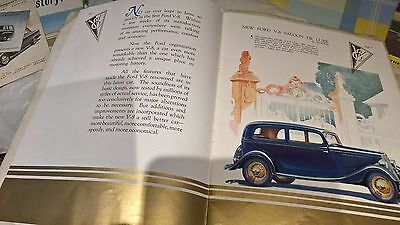 Ford car brochures 1930s 1950s