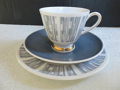 Tuscan China Manhattan Cup Saucer and Side Plate Trio