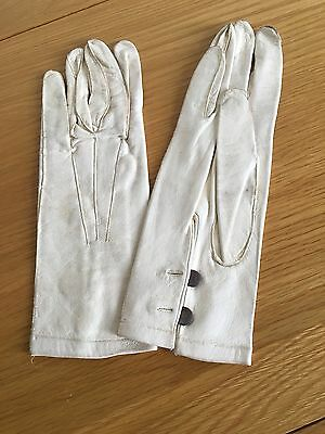 Vintage Cream Kid Gloves.